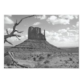 B&W Monument Valley in Arizona/Utah 4 5x7 Paper Invitation Card