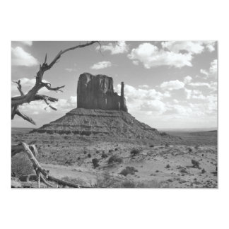 B&W Monument Valley in Arizona/Utah 4 Card