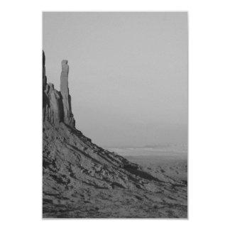 B&W Monument Valley in Arizona/Utah 5 3.5x5 Paper Invitation Card