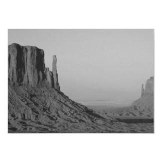 B&W Monument Valley in Arizona/Utah 5 5x7 Paper Invitation Card