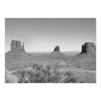 B&W Monument Valley in Arizona/Utah 5x7 Paper Invitation Card