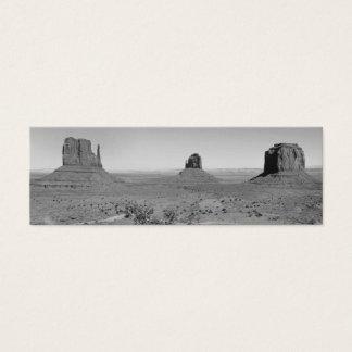 B&W Monument Valley in Arizona/Utah Mini Business Card