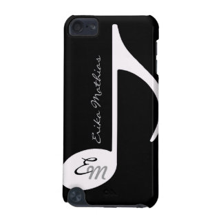 b/w musical note customizable iPod touch 5G cover