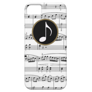 b&w musical notes iPhone 5 cases