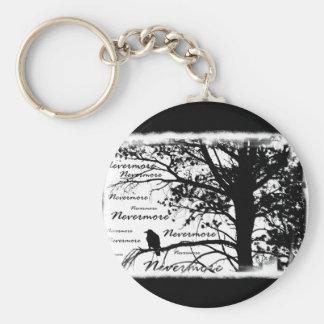 B W Nevermore Raven Silhouette Keychain