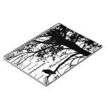 B&W Nevermore Raven Tree Silhouette - E.A. Poe Spiral Notebooks