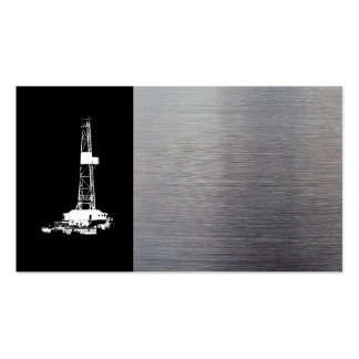 B/W Oil Well Pumping Unit Business Card