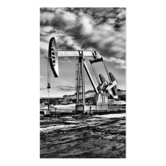 B/W Oil Well Pumping Unit Business Card