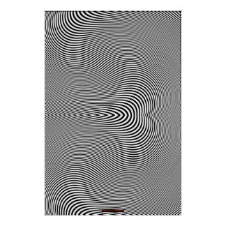 B & W Optical Illusion Op Art Wall Print Lge