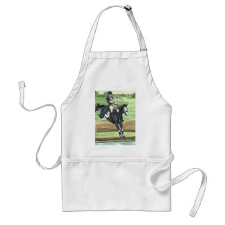 B&W Paint Horse XC into water Eventing Adult Apron