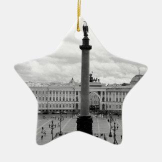 B&W Palace Square Ceramic Ornament