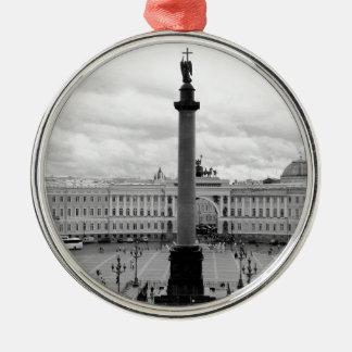 B&W Palace Square Metal Ornament