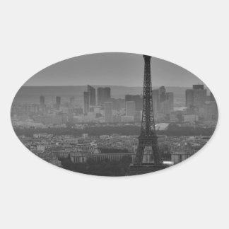 B&W Paris Oval Sticker