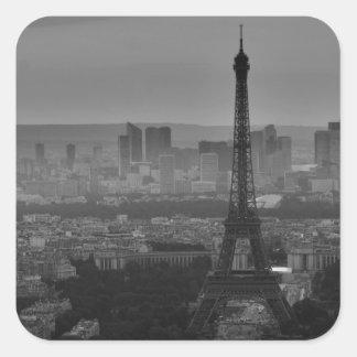 B&W Paris Square Sticker
