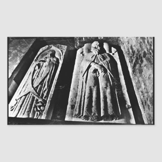 B+W Paris Tomb Rectangular Sticker