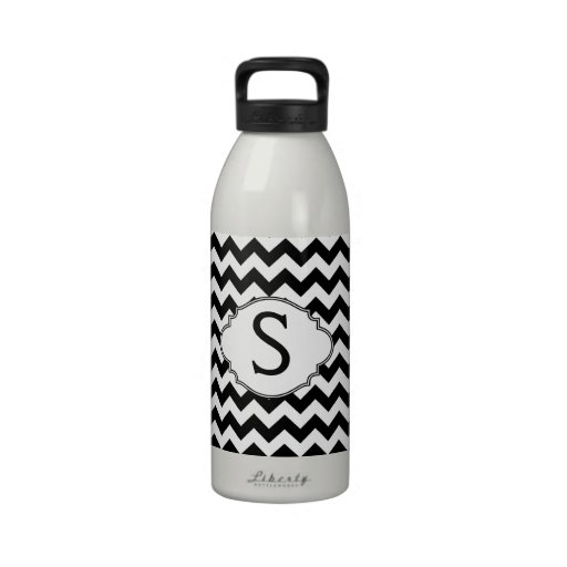 B W Pattern Design Monogram Initial Sigg Traveler 1 0l
