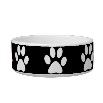 B&W Paws Cat Bowls