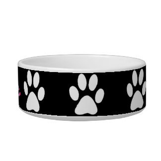 B&W Paws Cat Food Bowls