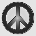 B&W peace sign Stickers