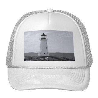 B W Peggy s Cove Lighthouse Mesh Hats