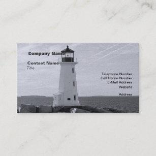 White lighthouse business cards zazzle bw peggys cove lighthouse business card colourmoves