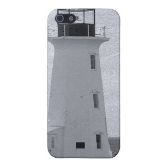 B&W Peggy's Cove Lighthouse iPhone SE/5/5s Cover