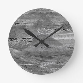 B&W Petrified Forest 2 Round Clock