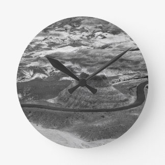 B&W Petrified Forest Round Clock