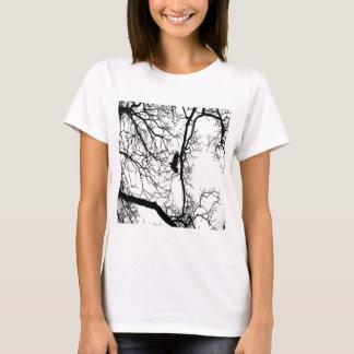 B&W Photo Bird Flying #2 T-Shirt