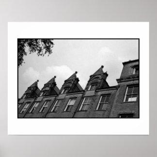 B&W Photo - Tulane Building Poster