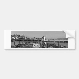 B&W Pier 39 Sea Lions Bumper Sticker