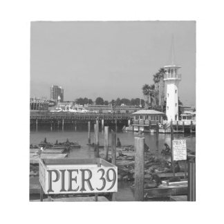 B&W Pier 39 Sea Lions Notepad