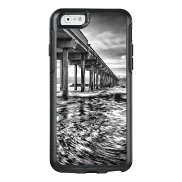 USA Themed B&W pier at dawn, California OtterBox iPhone 6/6s Case