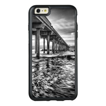 USA Themed B&W pier at dawn, California OtterBox iPhone 6/6s Plus Case