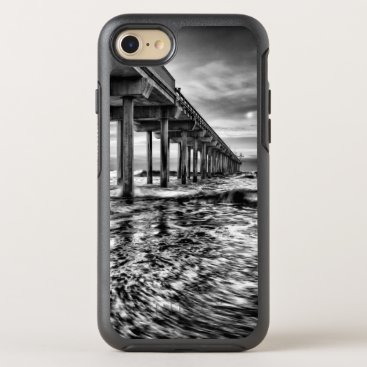 USA Themed B&W pier at dawn, California OtterBox Symmetry iPhone 8/7 Case