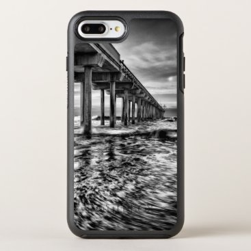 USA Themed B&W pier at dawn, California OtterBox Symmetry iPhone 8 Plus/7 Plus Case