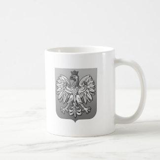 B/W Polish Eagle Shield Coffee Mug