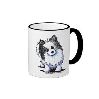 B/W Pom Ringer Mug