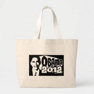 B&W Re-Elect Obama 2012 Gear Canvas Bags