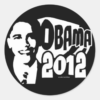 B&W Re-Elect Obama 2012 Gear Classic Round Sticker