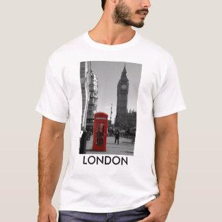 B/W Red London Telephone Box T-shirt