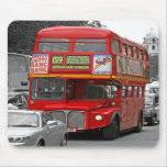 B/W Red Tinted London Red Bus Mousepad