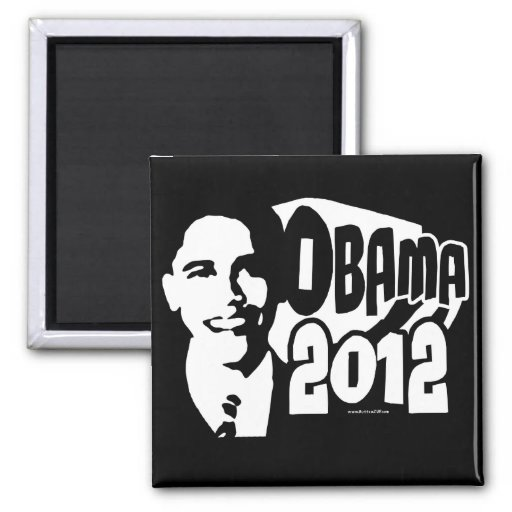 B&W reeligen el engranaje de Obama 2012 Imán Cuadrado
