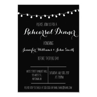 B&W Rehearsal Dinner Invitations