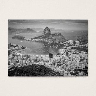 B&W Rio de Janeiro aerial view Business Card