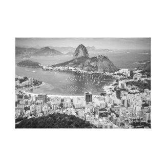B&W Rio de Janeiro aerial view Canvas Print
