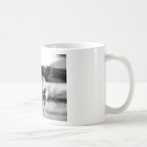 B&W Running Horse Mugs