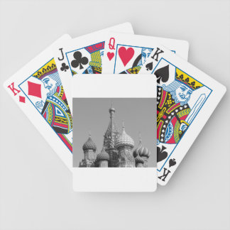 B&W Saint Basil's Cathedral Bicycle Playing Cards