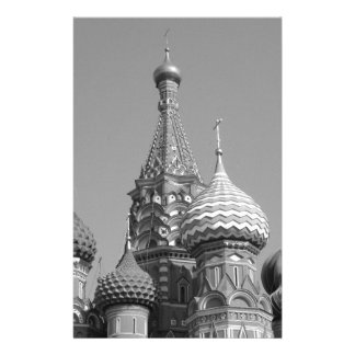 B&W Saint Basil's Cathedral Stationery