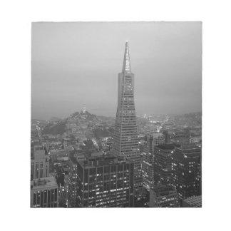 B&W San Francisco céntrico Bloc De Notas